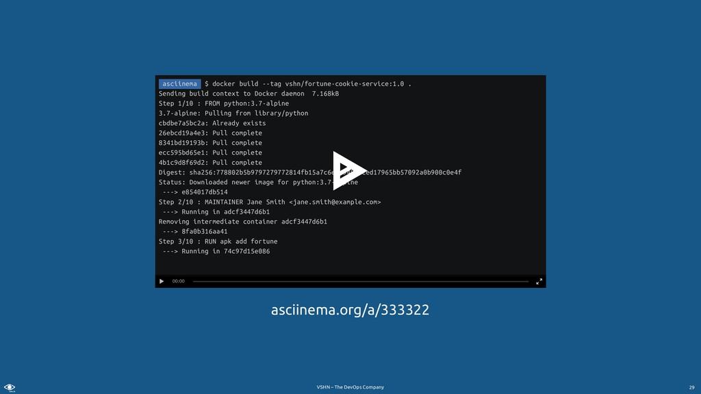 VSHN – The DevOps Company asciinema.org/a/33332...