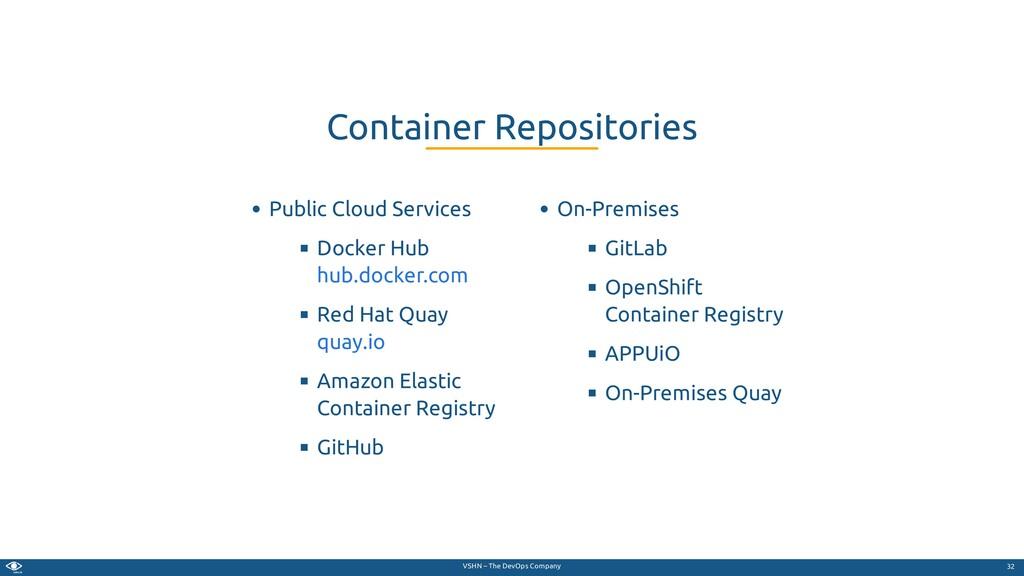 VSHN – The DevOps Company Public Cloud Services...