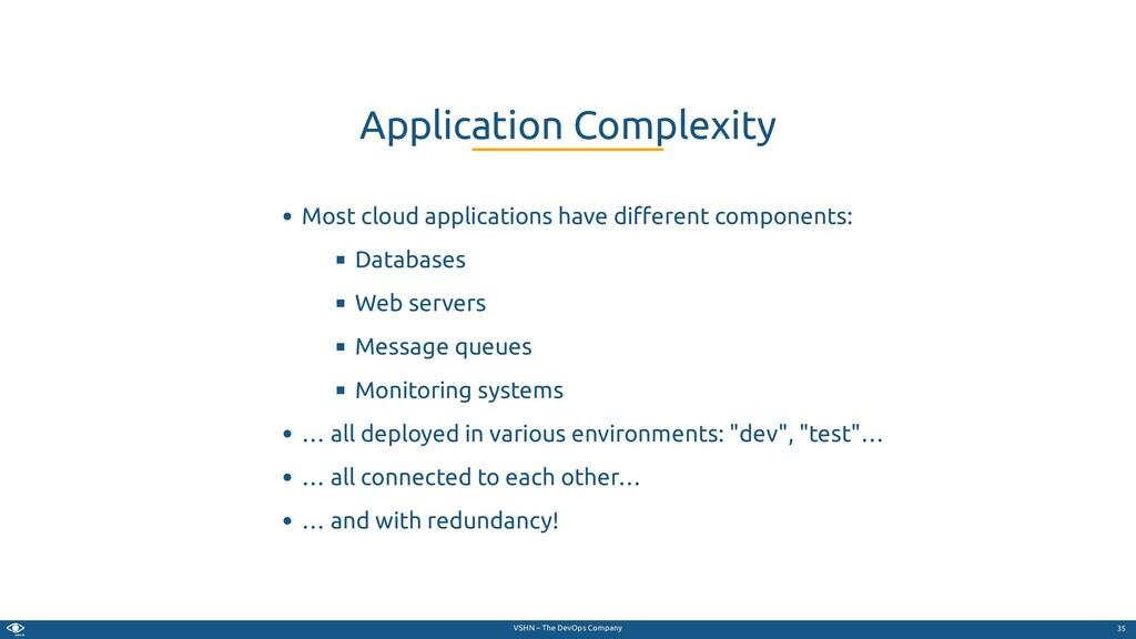 VSHN – The DevOps Company Most cloud applicatio...