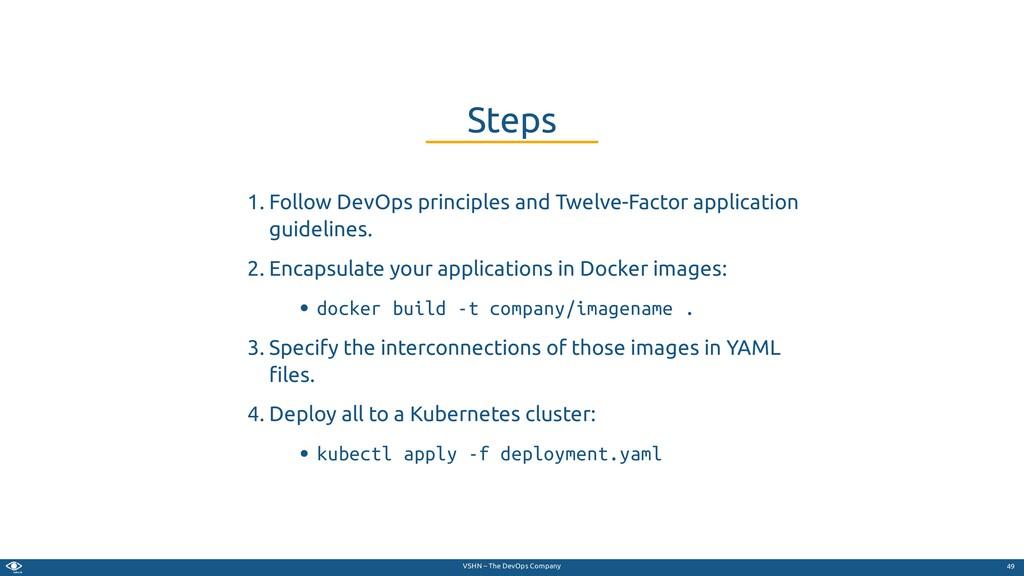 VSHN – The DevOps Company 1. Follow DevOps prin...