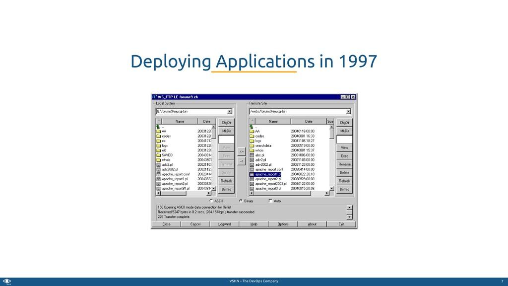 VSHN – The DevOps Company Deploying Application...