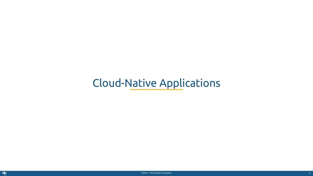 VSHN – The DevOps Company Cloud-Native Applicat...