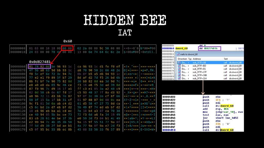 0x0d827481 0x60 HIDDEN BEE IAT