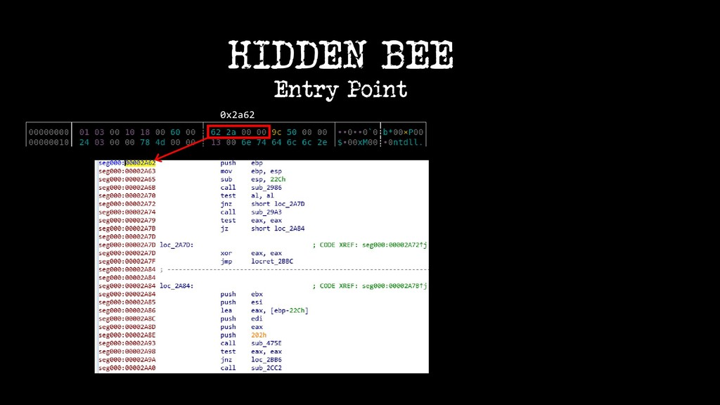 0x2a62 HIDDEN BEE Entry Point