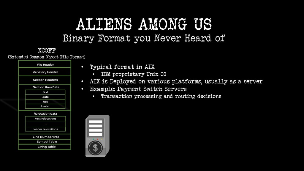 ALIENS AMONG US Binary Format you Never Heard o...
