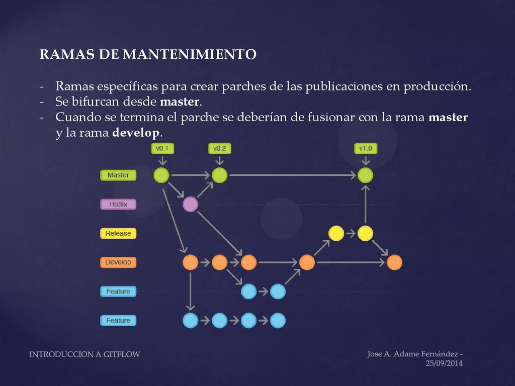 RAMAS DE MANTENIMIENTO - Ramas específicas para...