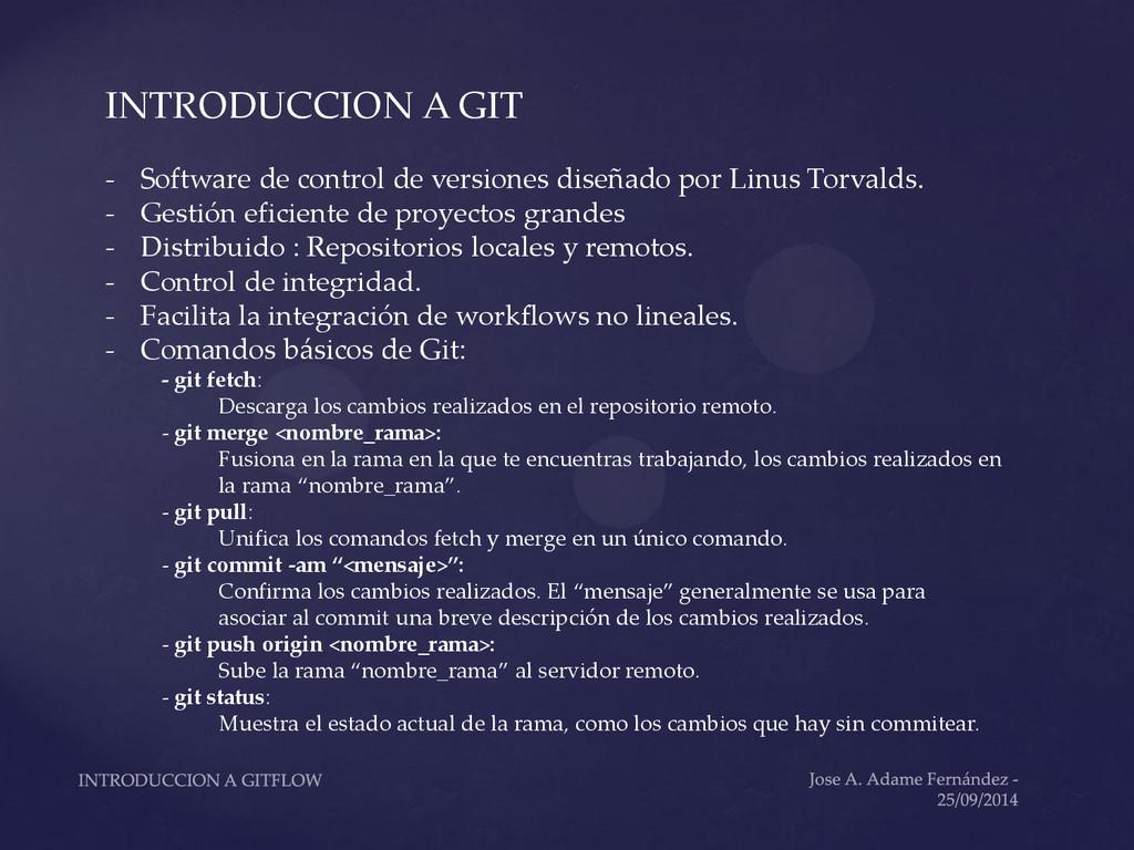 INTRODUCCION A GIT - Software de control de ver...