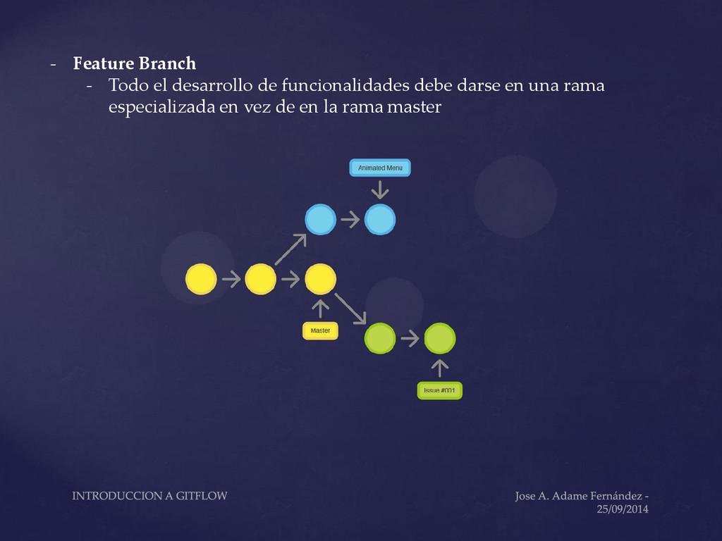 - Feature Branch - Todo el desarrollo de funcio...