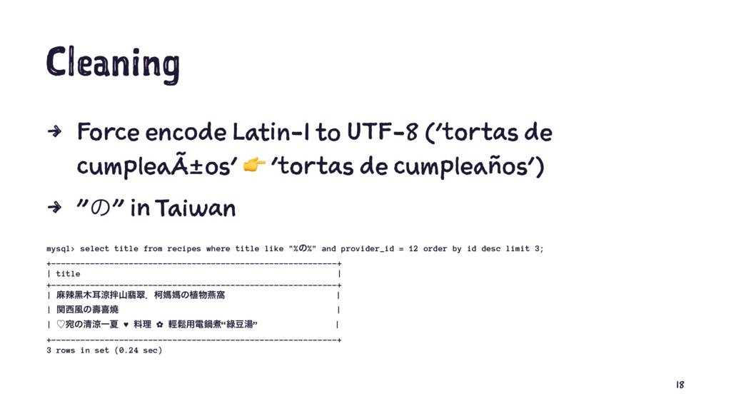 Cleaning 4 Force encode Latin-1 to UTF-8 ('tort...