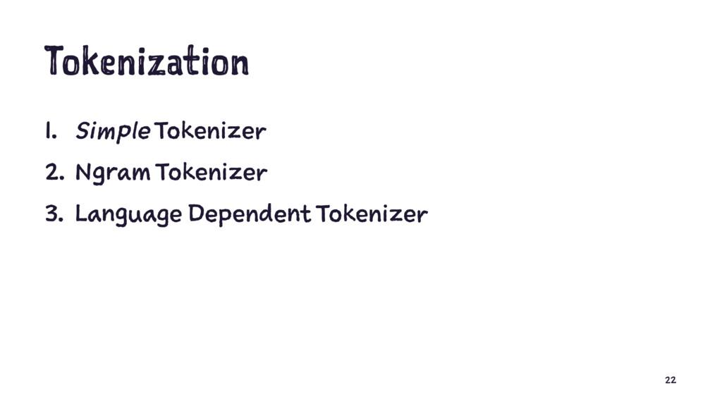 Tokenization 1. Simple Tokenizer 2. Ngram Token...