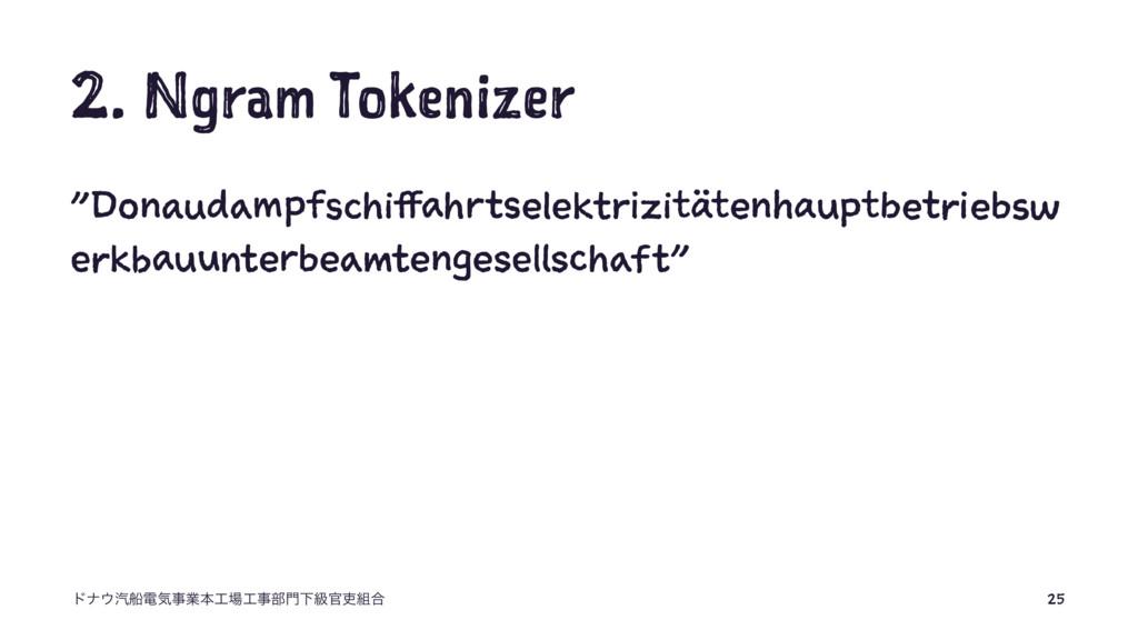 "2. Ngram Tokenizer ""Donaudampfschiffahrtselektr..."