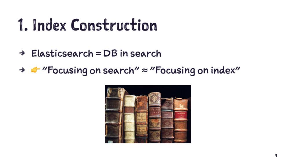 1. Index Construction 4 Elasticsearch = DB in s...