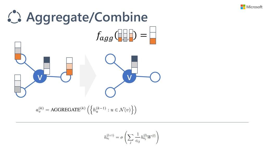 v v Aggregate/Combine  = , ,
