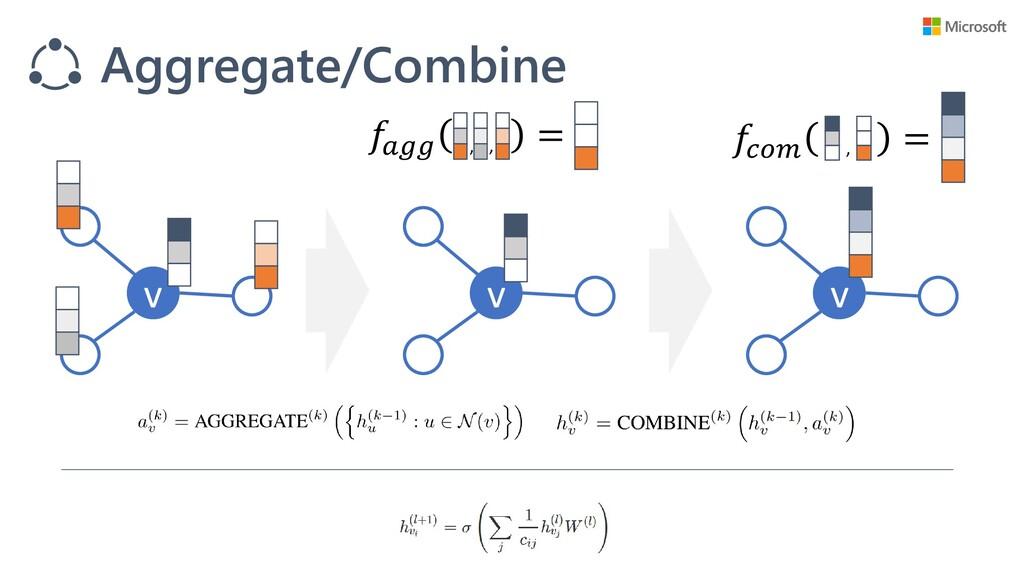 v v v  = Aggregate/Combine  = , , ,