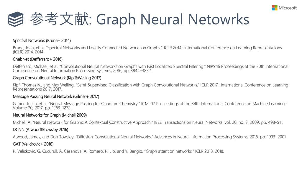 参考文献: Graph Neural Netowrks Spectral Networks (...