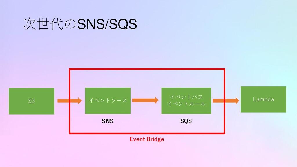 次世代のSNS/SQS S3 Lambda イベントソース イベントバス イベントルール SN...