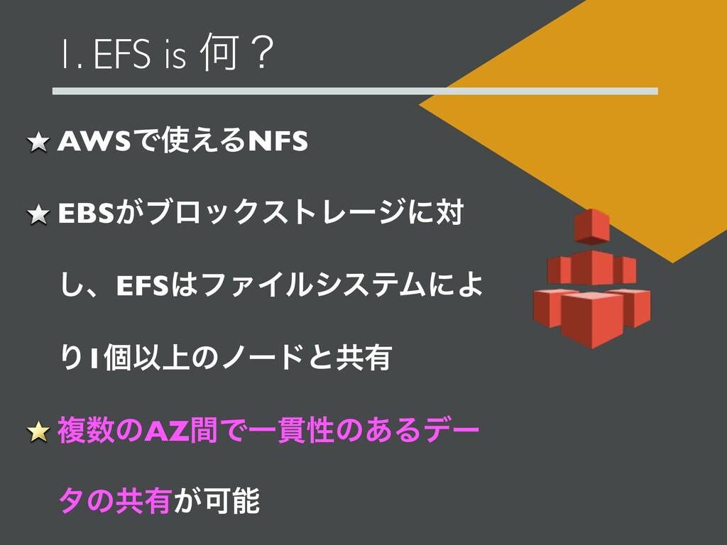 1. EFS is Կʁ AWSͰ͑ΔNFS EBS͕ϒϩοΫετϨʔδʹର ͠ɺEFSϑ...