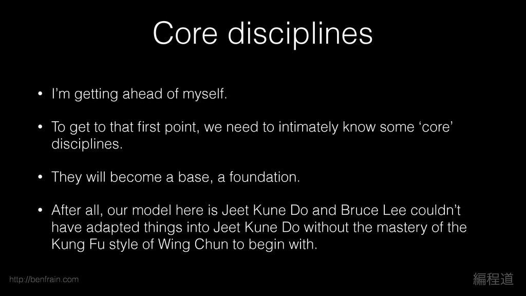 ฤఔಓ http://benfrain.com Core disciplines • I'm ...