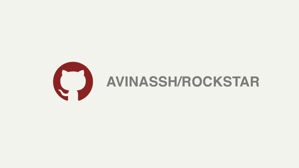 AVINASSH/ROCKSTAR