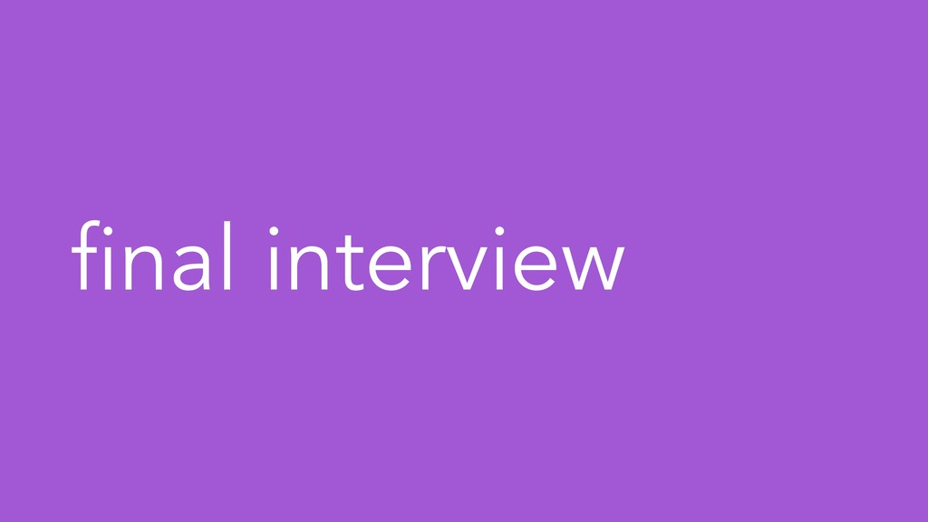 final interview