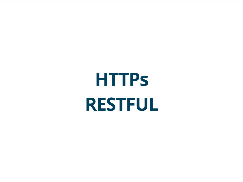 HTTPs RESTFUL