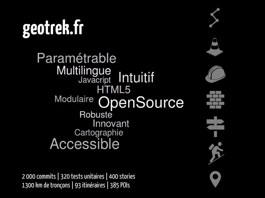 geotrek.fr 2 000 commits | 320 tests unitaires ...