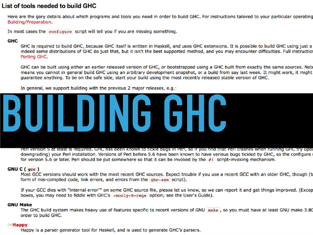 BUILDING GHC