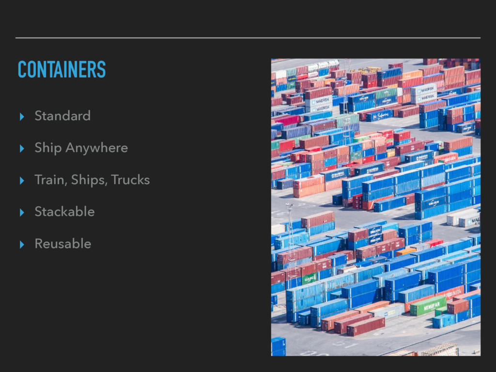 CONTAINERS ▸ Standard ▸ Ship Anywhere ▸ Train, ...