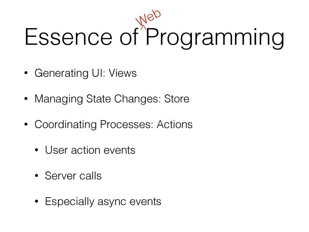 Essence of Programming • Generating UI: Views •...