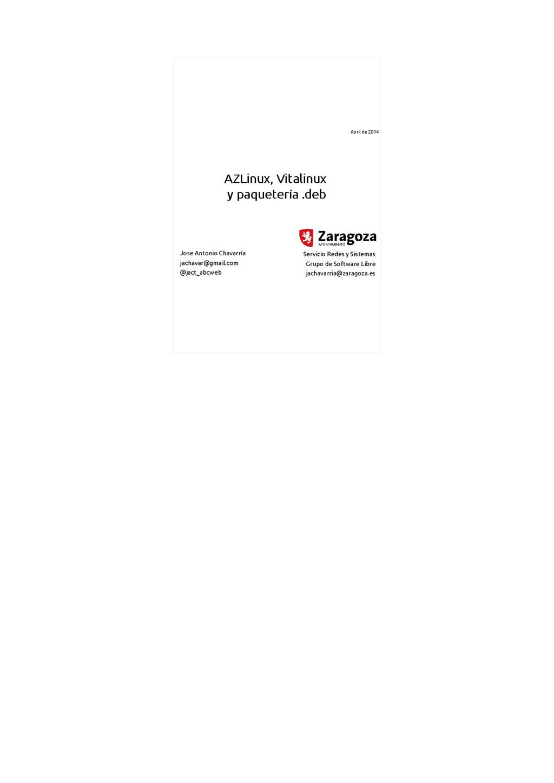 AZLinux, Vitalinux y paquetería .deb Servicio R...