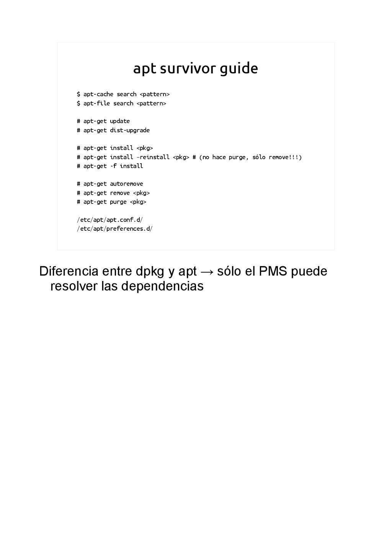apt survivor guide $ apt-cache search <pattern>...
