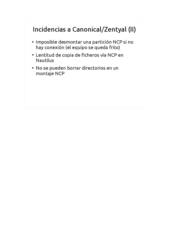 Incidencias a Canonical/Zentyal (II) ● Imposibl...