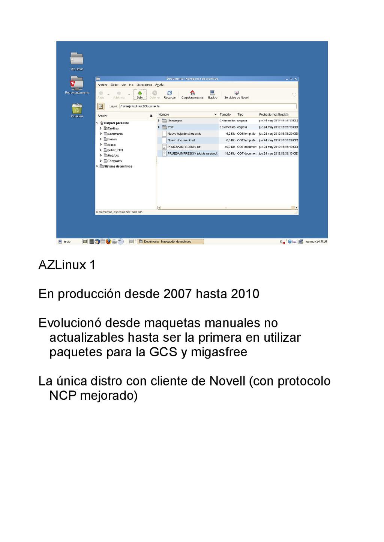 AZLinux 1 En producción desde 2007 hasta 2010 E...