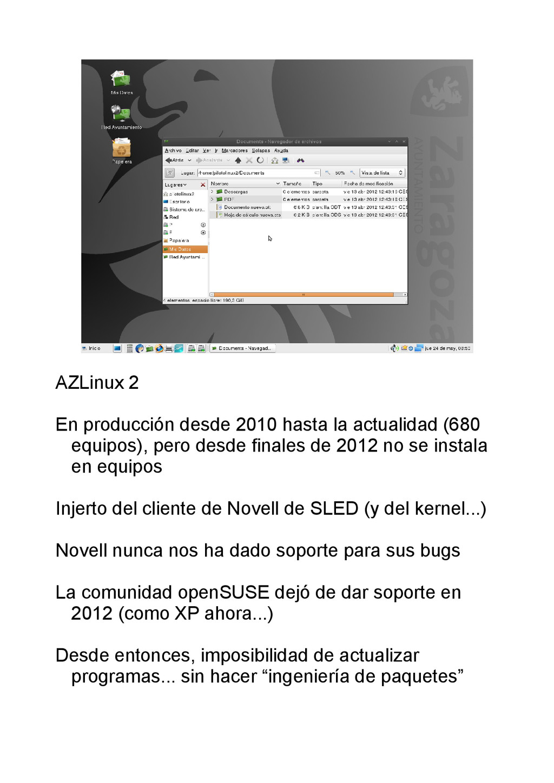 AZLinux 2 En producción desde 2010 hasta la act...