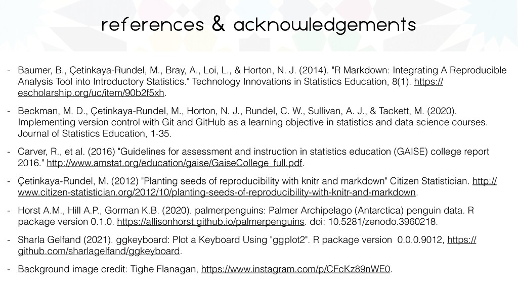 references & acknowledgements - Baumer, B., Çet...