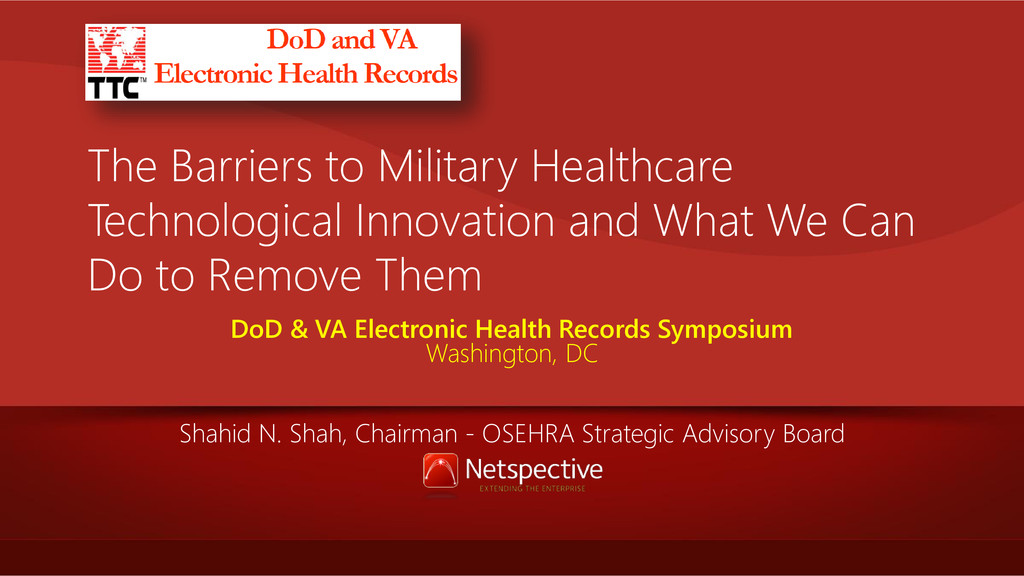 The Barriers to Military Healthcare Technologic...