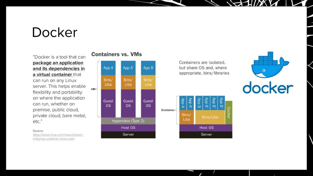 """Docker """"Docker is a tool that can package an ap..."""