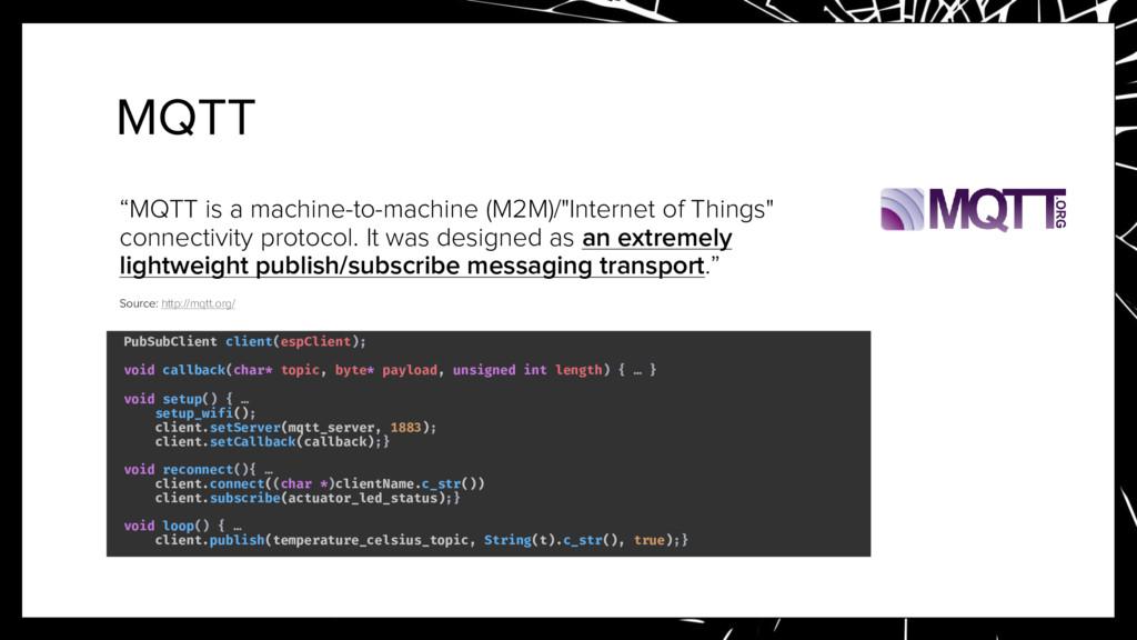 "MQTT ""MQTT is a machine-to-machine (M2M)/""Inter..."