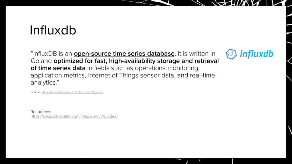 """Influxdb """"InfluxDB is an open-source time serie..."""