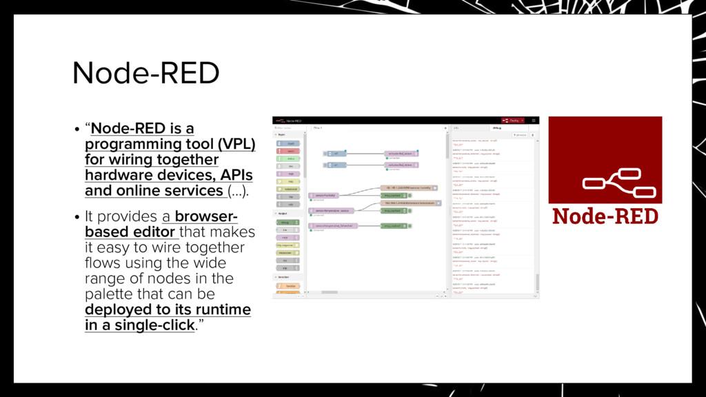 "Node-RED • ""Node-RED is a programming tool (VPL..."