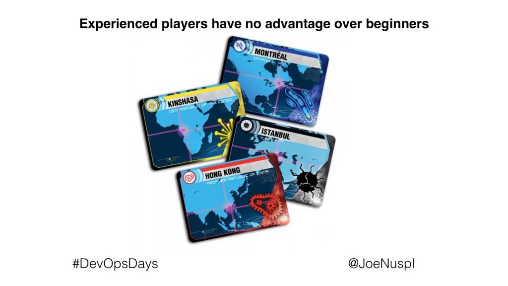 @JoeNuspl #DevOpsDays Experienced players have ...