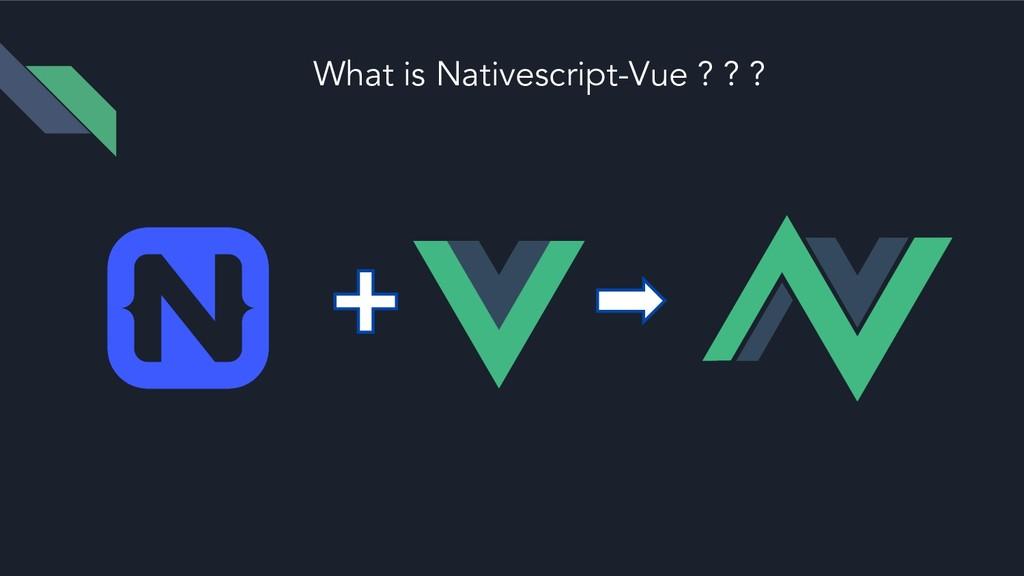 What is Nativescript-Vue ? ? ?