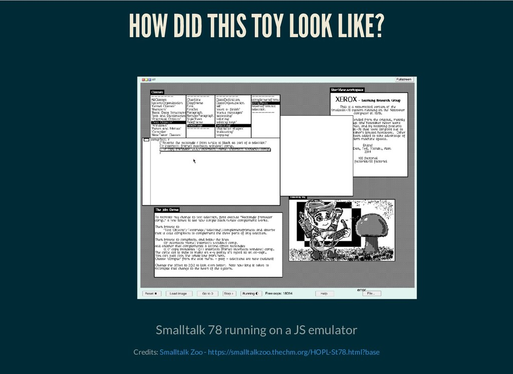 HOW DID THIS TOY LOOK LIKE? Smalltalk 78 runnin...