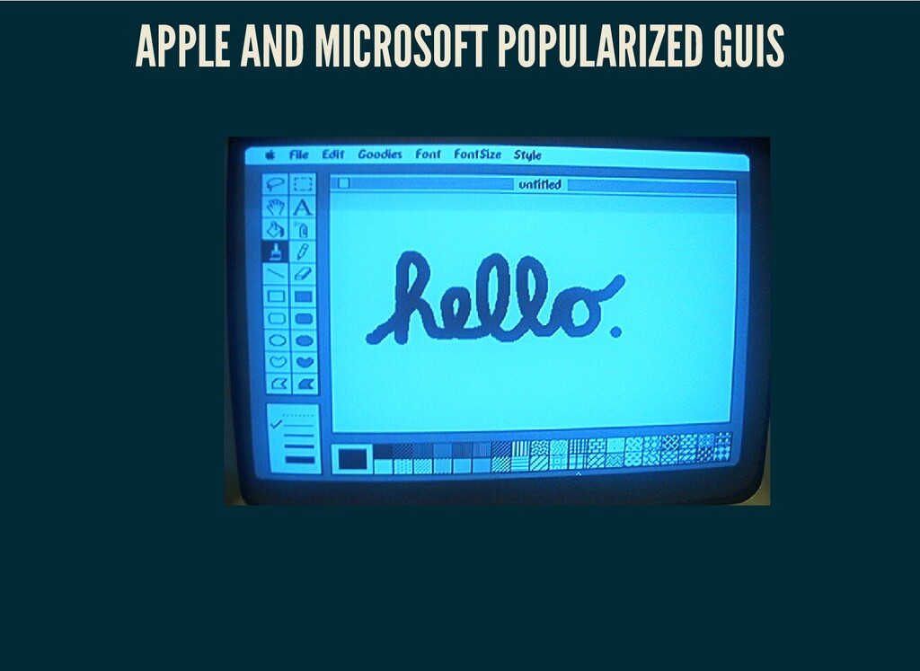 APPLE AND MICROSOFT POPULARIZED GUIS