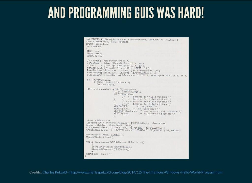 AND PROGRAMMING GUIS WAS HARD! Credits: Charles...