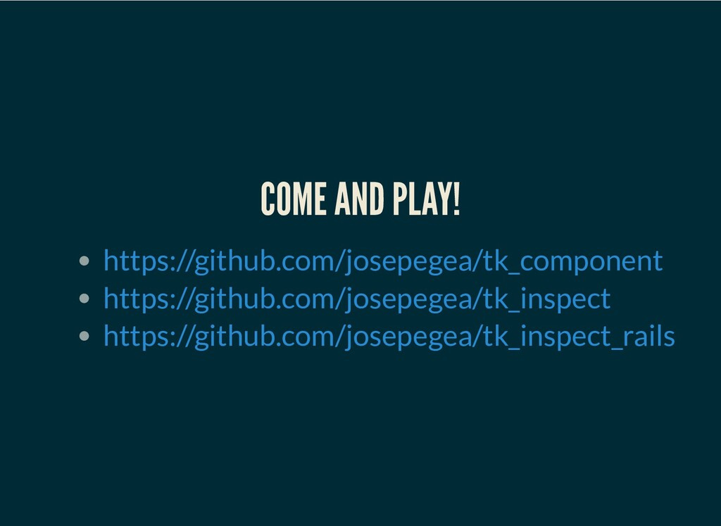 COME AND PLAY! https://github.com/josepegea/tk_...