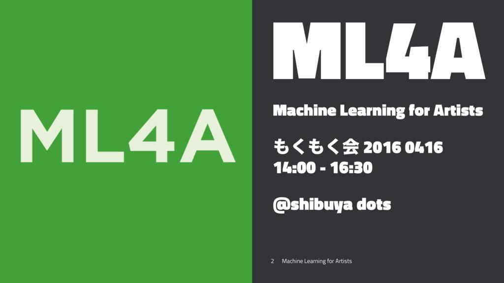 ML4A Machine Learning for Artists ͘͘ձ 2016 04...