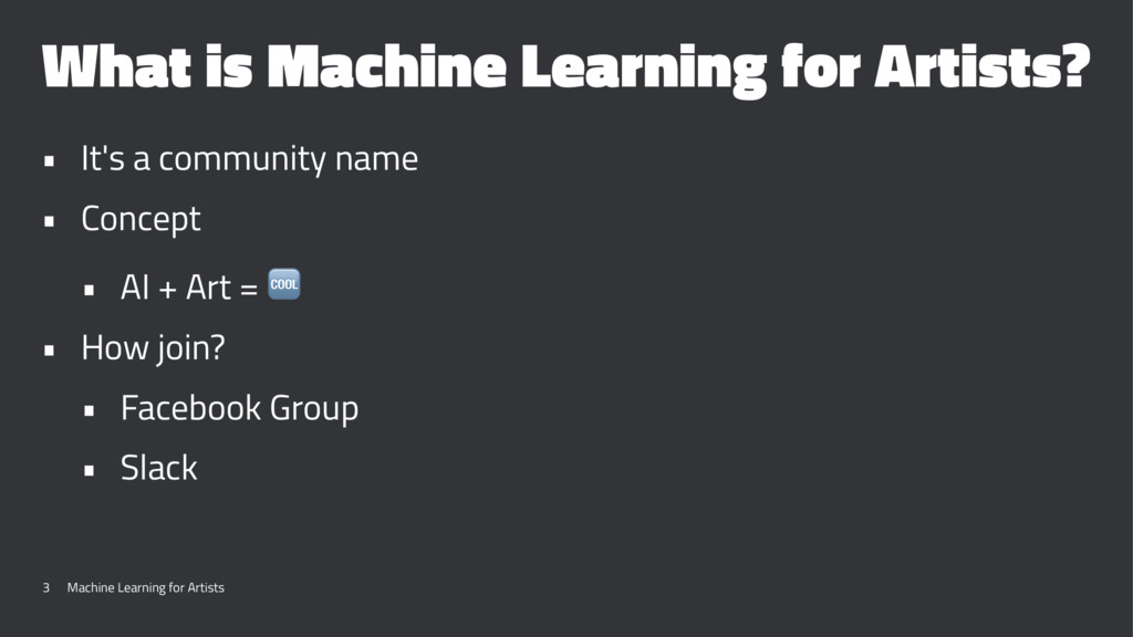 What is Machine Learning for Artists? • It's a ...