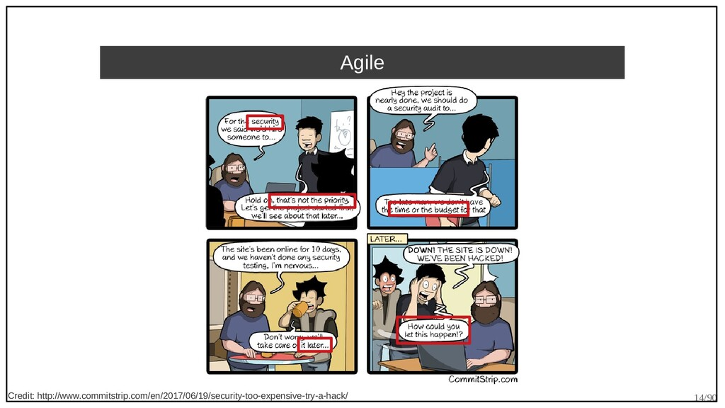 14/90 Agile Credit: http://www.commitstrip.com/...