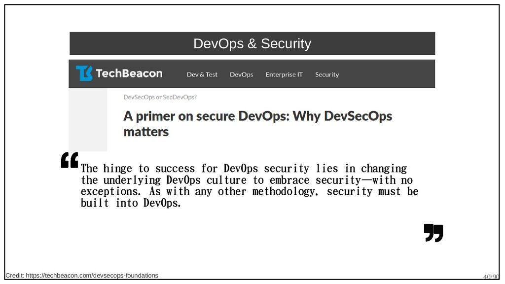 40/90 DevOps & Security The hinge to success fo...